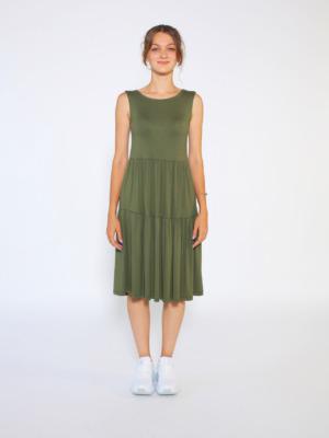 asker yeşili elbise11