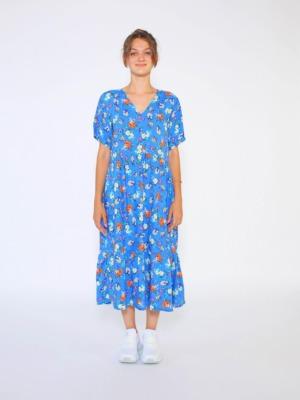 mavi çiçekli elbise33