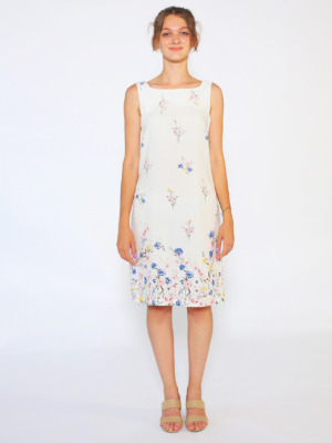 mavi çiçekli kalem elbise1